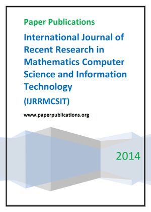 International Journal of Recent Research in Mathematics Computer Science and Information Technology