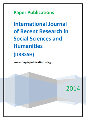 International Journal of Recent Research in Social Sciences and Humanities